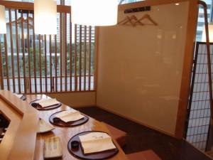 天ぷら ふく西 禅と匠 内観