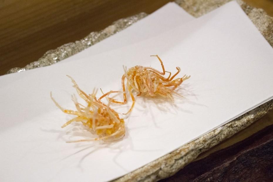 海老の足の天ぷら