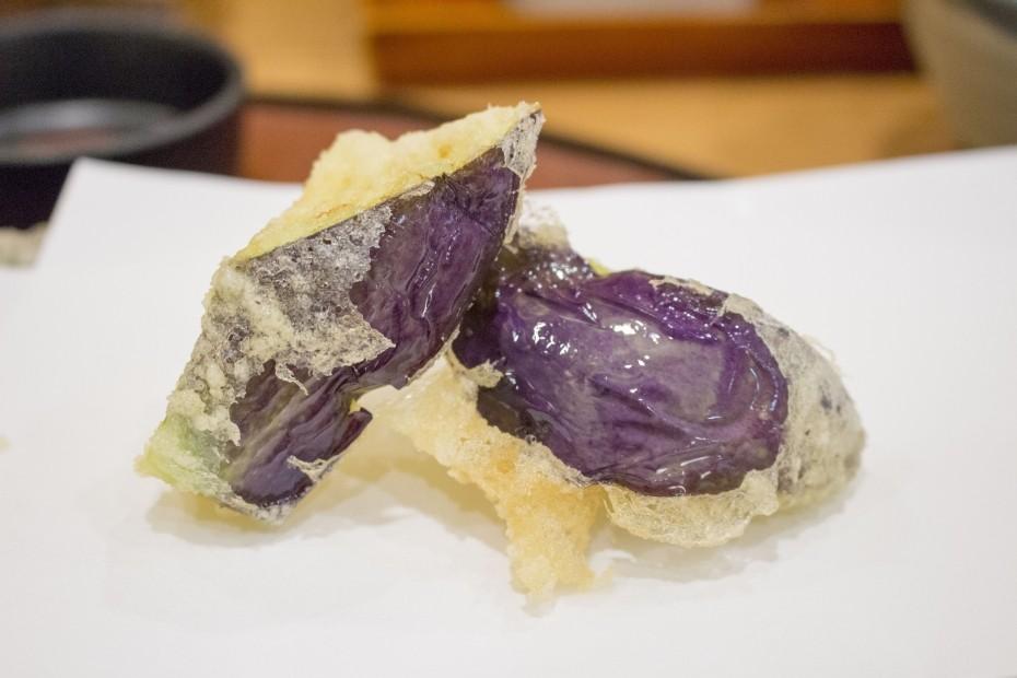水茄子の天ぷら